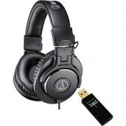 Audio Technica ATH-M30x bundle avec Dragonfly Black