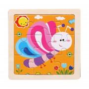Pequeños puzzles rompecabezas para niños 9 Piezas de Woody bosque Animales Story Puzzle