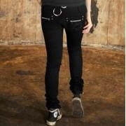 pantalon pour femmes POIZEN INDUSTRIES - Étoile - Noire
