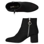 Billini Womens Keko Boot Black Suede