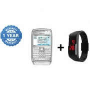 Refurbished NOKIA E71 + Digital Watch (1 Year WarrantyBazaar Warranty)