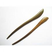 Myhsmooth Zz-gs-bt 2 Count Hair Sticks Natural Green Sandalwood Handmade Carved Hair Clip Shawl Hair Pins Pack of 2 Pcs