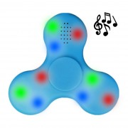 Bluetooth Fidget Spinner with Speaker & Colourful LED Lights - Blue