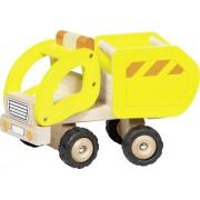Masina de gunoi din lemn, galbena