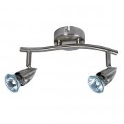 OK balkspot GU10 exclusief lampen max. 50 W staal grijs