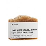 Sapun natural cu Ovaz, Lapte de Capra & Miere (piele uscata), 130 g
