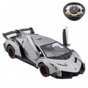Masinuta Lamborghini Sport gri telecomanda control volan