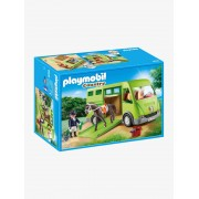 Playmobil 6928 Transporte de cavalos, da Playmobil verde medio liso com motivo