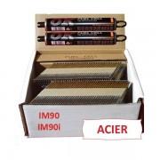 Pack 2200 clous 3.1x80 CRANTEES ACIER pour Paslode IM90 / IM90I