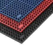 Červená olejivzdorná protiúnavová průmyslová rohož Sanitness De Lux - délka 152 cm a šířka 91 cm