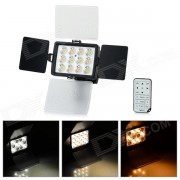 1040A LED universal 36W 2850lm 12-LED de la camara de video de la Luz - Negro