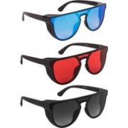 Bryan Adams Over-sized Sunglasses(Red, Blue, Grey)