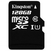 Kingston Tarjeta MicroSDXC para Samsung SM-J700P (microSDHC, Formato Personalizado y Adaptador SD estándar) (Clase 10, UHS-I), 128gb