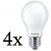 Philips Pack 4x Lâmpada LED 10.5W E27 Luz Branca Quente