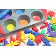 Color Sorting Learning Set- Sorting Tray and Dinosaur / Bugs Manipulatives to Sort - Preschool and Toddler Sorting...