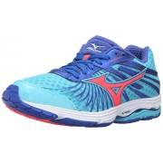Mizuno Women's Wave Sayonara 4-W Running Shoe, Capri/Fiery Coral/Dazzling Blue, 7. 5 B US