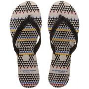 Franco Leone Women's White and Black Flip-Flops and House Slippers - 4 UK/India (37 EU)