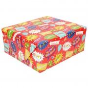 Geen Rol kinderverjaardag inpakpapier met party print 200 x 70 cm