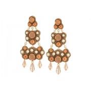 Tory Burch Beaded Chandelier Earrings Warm BlushVintage Gold