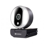 Sandberg Streamer USB Webcam Pro, Black/Silver