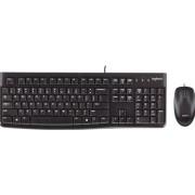 Logitech Desktop MK120 - Toetsenbord en muis set - USB - België - zwart