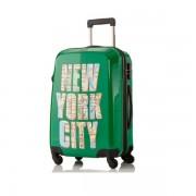 Duża walizka Travelite New York zielona