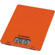 Bomann KW 1515 - Báscula de cocina digital, 5 kg, pasos 1 g, función tara, color naranja