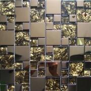 Maxwhite JSM-JC013 Mozaika skleněná nerez bronzová hnědá 29,7x29,7cm