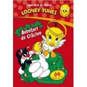 Looney Tunes - Aventuri de Craciun - Supercarte de colorat
