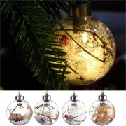 Christmas Party Home Decoration Transparent Ball With Lamp Toys Props For Kids Children Gift