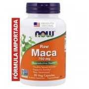MACA RAW 750mg 90 Caps NOW Foods Importada