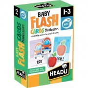 Jucarii educative Copii Flash Card, Montessori, Headu