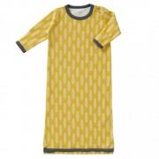 Sac de dormit cu maneca lunga din bumbac organic Fresk Havre vintage yellow 0-6 luni