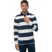 Gant Polo manica lunga Bianco/blu Cotone Uomo