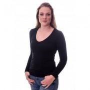 Claesens Women T-Shirt V-Neck l/s Black( 8011 ) - Zwart - Size: Medium