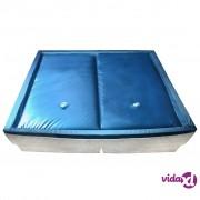vidaXL Vodeni madrac set s podlogom i razdjeljivačem 200 x 200 cm F3