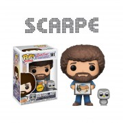 Funko Pop Bob Ross Chase With Owl Buho Pintor