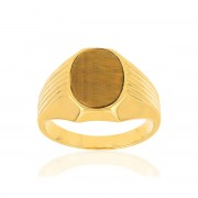 MATY Bague MATY Or jaune 375 oeil de tigre marron - 54,55,56,57,58,59,60,61,62,63,64,65,66,67,68,69,70,71,72