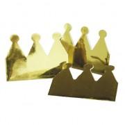 Merkloos Kartonnen kroon goud 6x stuks - Verkleedhoofddeksels