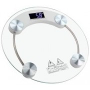Garnny Smith Smith Personal Health Human Body Weight Machine X2003A Round Transparent Glass Weighing Scale(White)