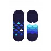 More Pánské nízké ponožky More 098 šedá-žíhaná 43-46
