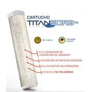 """Cartucho TITANSORB remoción de arsénico y metales pesados 4.5"""" x 10"""""""