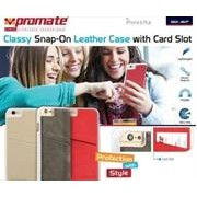 Promate Slit-i6P Classy Snap-On leather case with