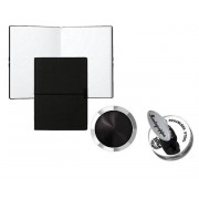 Set Butoni Nero Uno Silver Onyx by Montegrappa si Note pad Black Hugo Boss