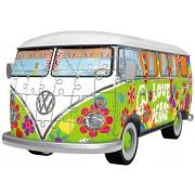 Puzzle 3D Ravensburger - Volkswagen T1 - Hippie Style, 162 piese (12532)