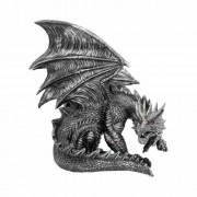Obsidian sárkány szobor