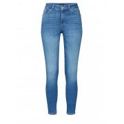 PIECES Jeans 'PCDELLY SKN MW CR LB124-BA/NOOS' blue denim 24-25,26-27,28-29,30-31,32-33