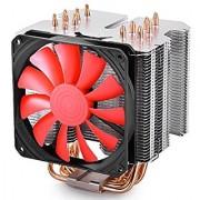 DEEPCOOL Lucifer K2 CPU Cooler 6 Heatpipes Fanless Optional 120mm PWM Cooling Fan