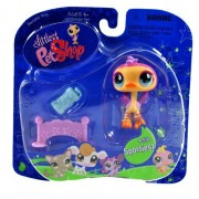 "Hasbro Year 2007 Littlest Pet Shop Portable Pets ""Sportiest"" Series Collectible Bobble Head Pet Figure Set #516 - OSTRICH with Hurdle, Sweatband and Water Bottle (64928)"