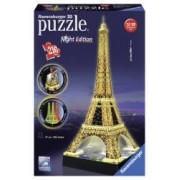 Puzzle 3D Turnul Eiffel Noaptea 216 Piese din plastic se imbina perfect fara lipici